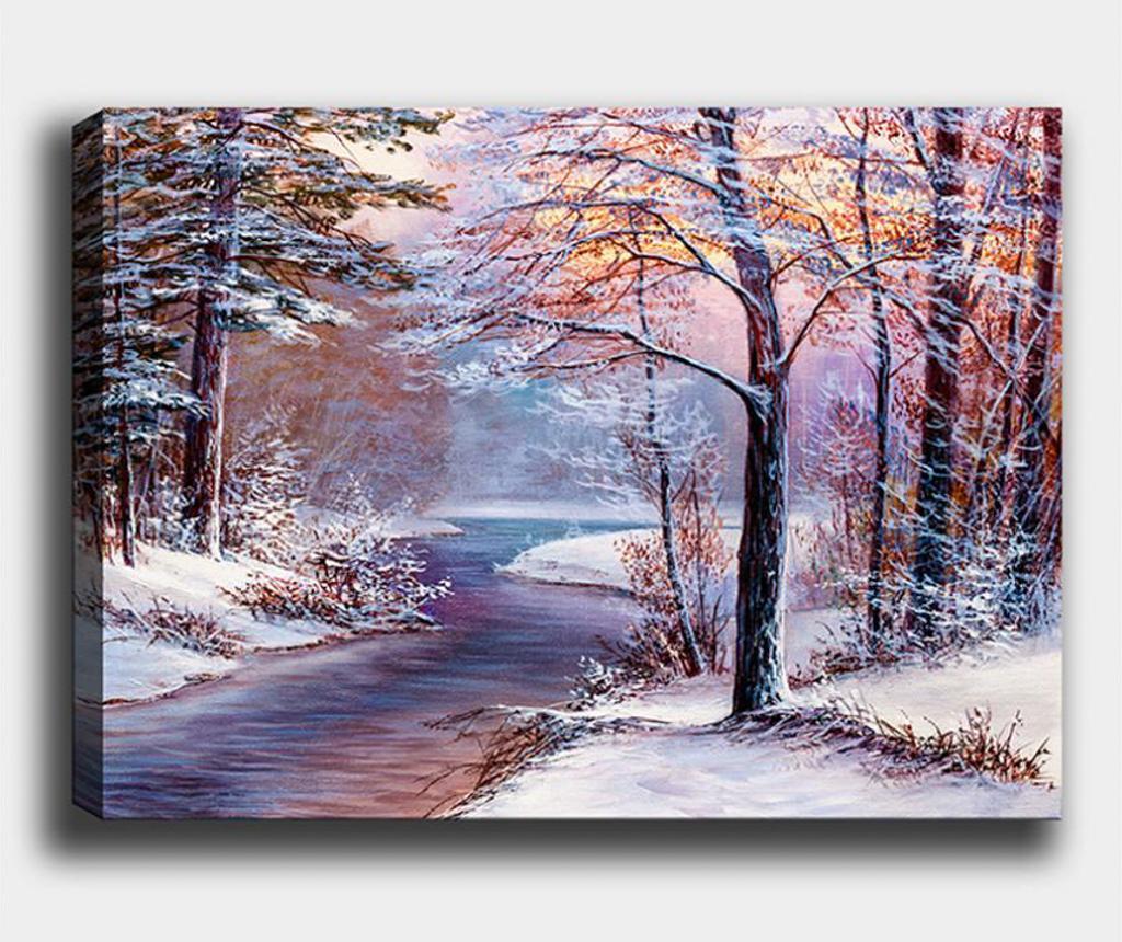 Tablou Winter Path 70x100 cm - Tablo Center, Multicolor imagine
