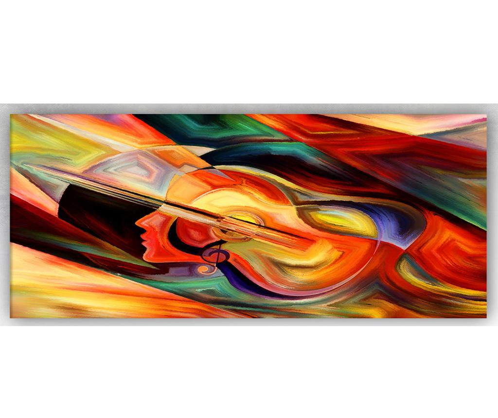 Tablou Guitarhead 60x140 cm - Tablo Center, Multicolor imagine