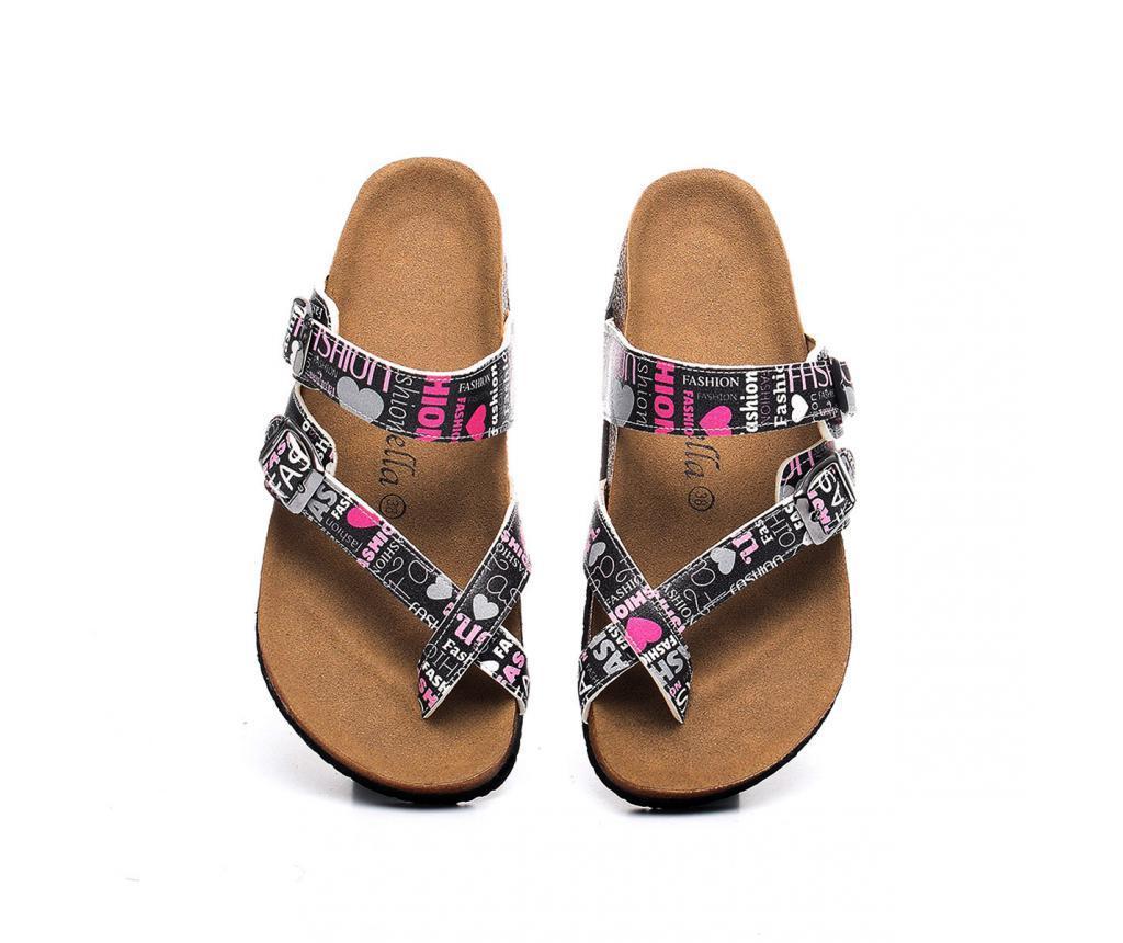 Papuci dama Fashion 38 - CELLA, Multicolor poza