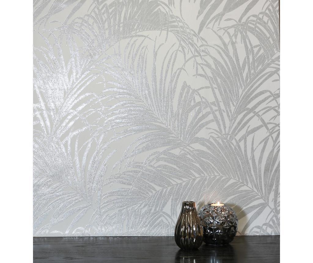 Tapet Palm Silver Grey Kiss Foil 53x1005 cm