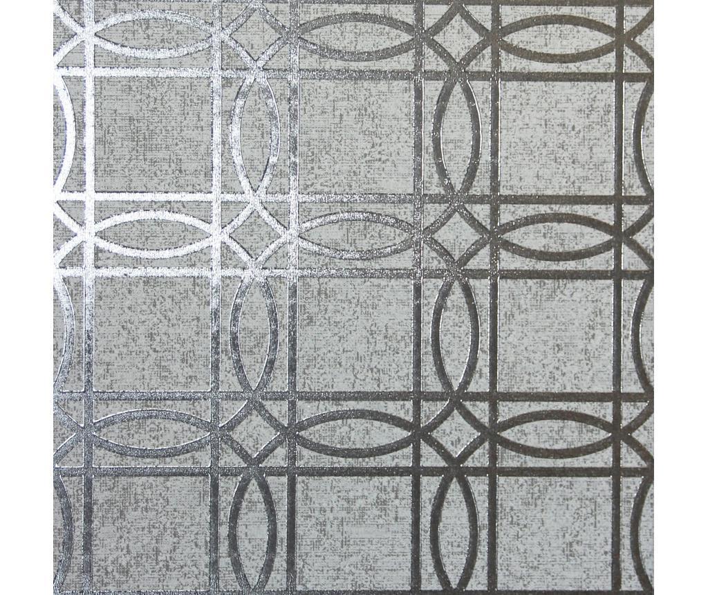 Tapet Geo Charcoal Grey Kiss Foil 53x1005 cm - Arthouse imagine