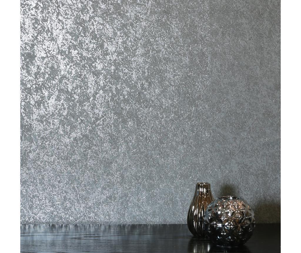 Tapet Texture Grey Charcoal Kiss Foil 53x1005 cm imagine