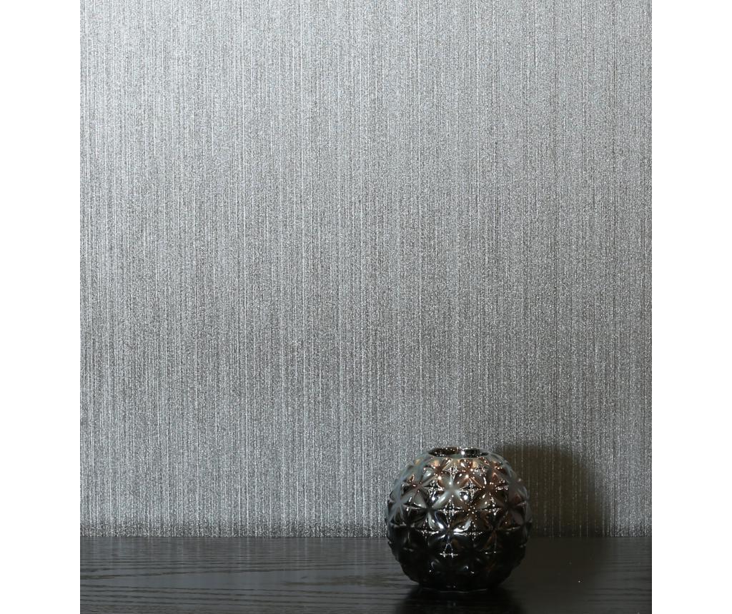 Tapet Gianni Plain Foil Silver 53x1005 cm