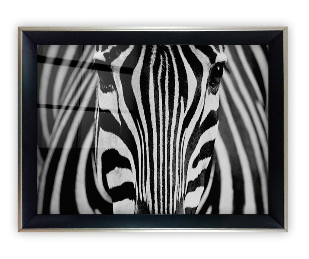 Tablou Zebra Eyes 45x65 cm - Tablo Center, Multicolor imagine