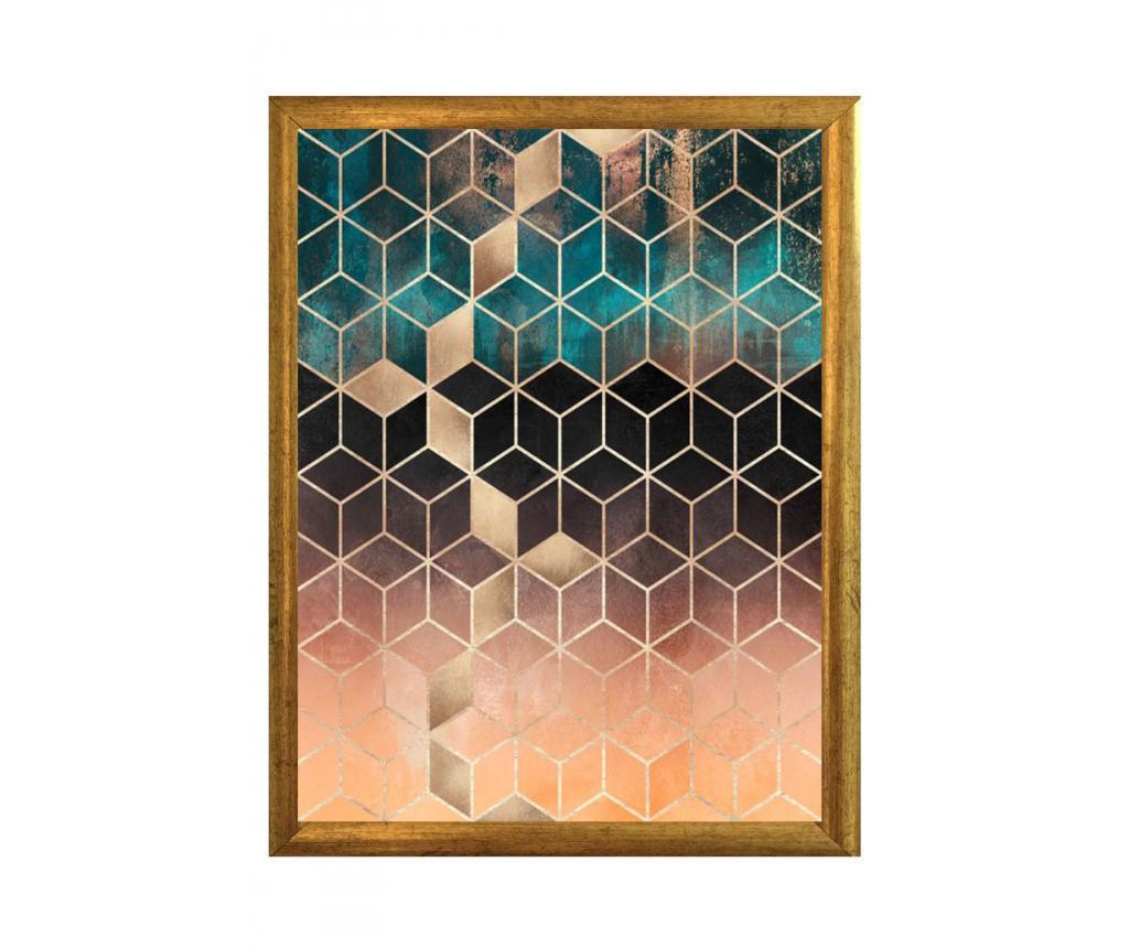 Tablou Cubes 23x33 cm