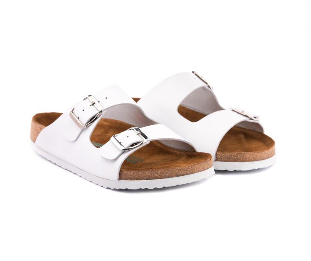 Papuci dama Ema White 39 - Comfortfüße, Alb poza