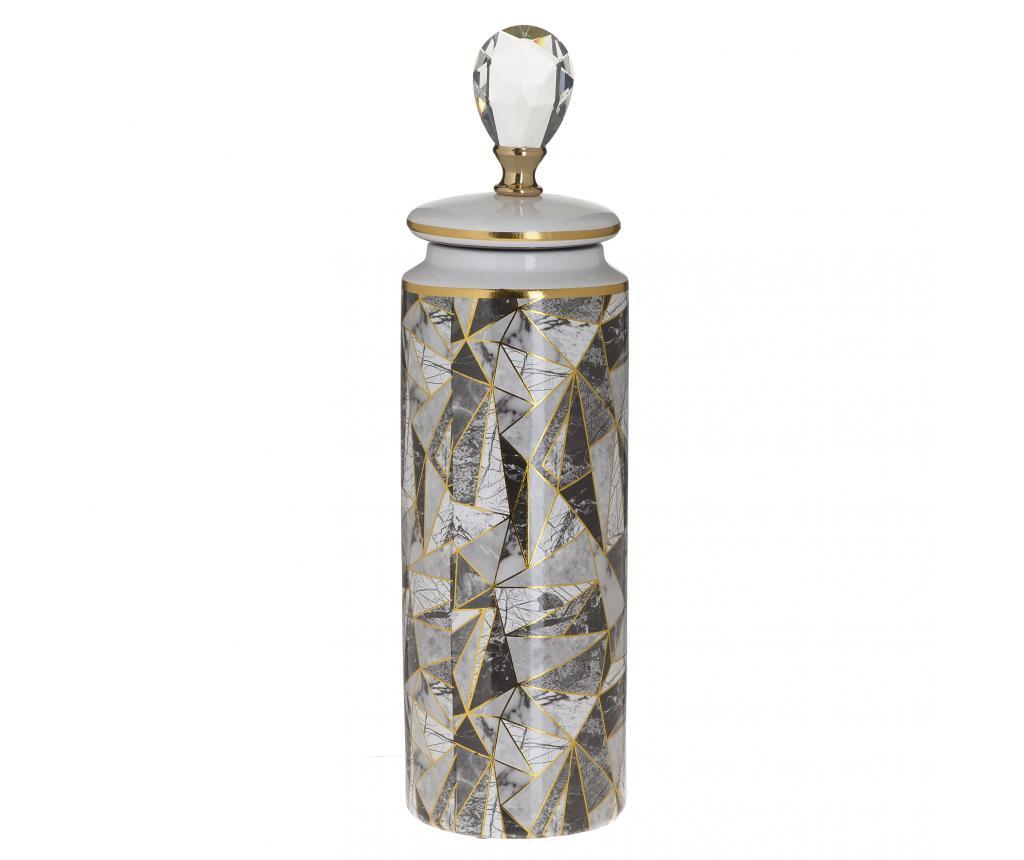 Vaza M - inart, Gri & Argintiu poza
