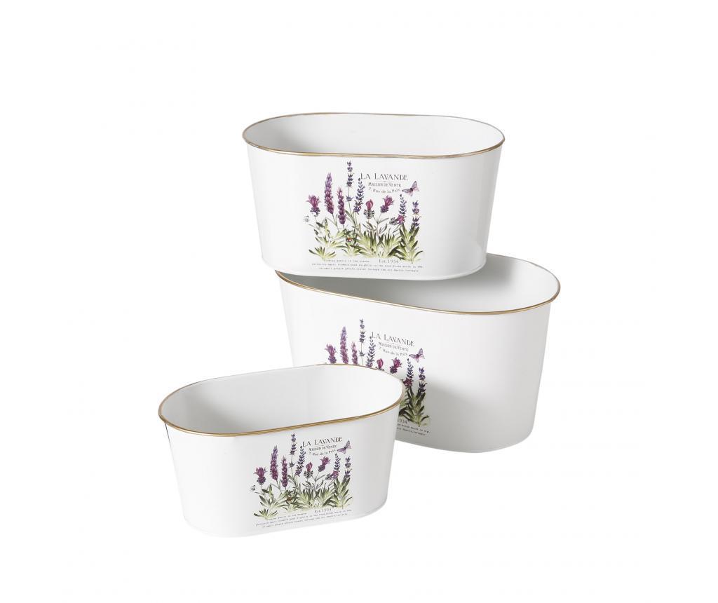 Set 3 jardiniere Lavender