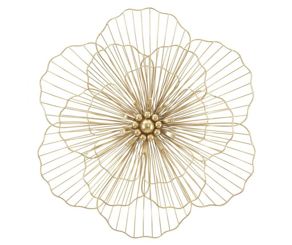 Decoratiune de perete Glam Flowery - Mauro Ferretti, Galben & Auriu poza