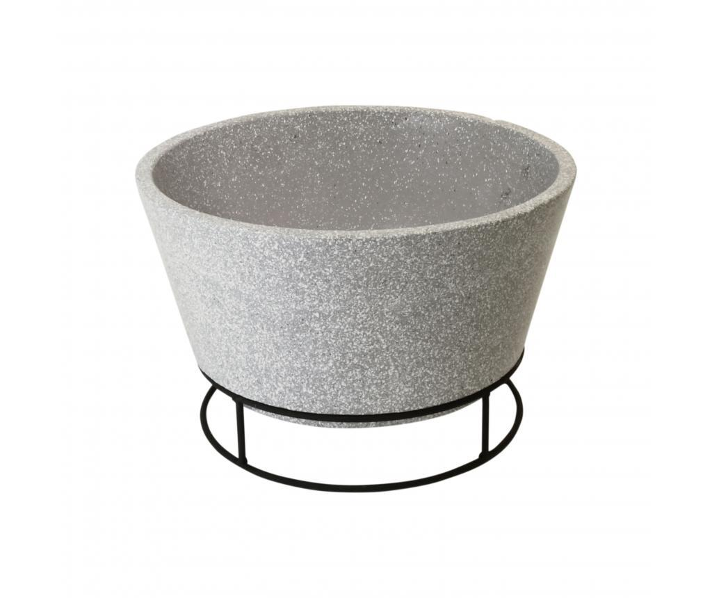 Cos pentru foc - Esschert Design, Gri & Argintiu
