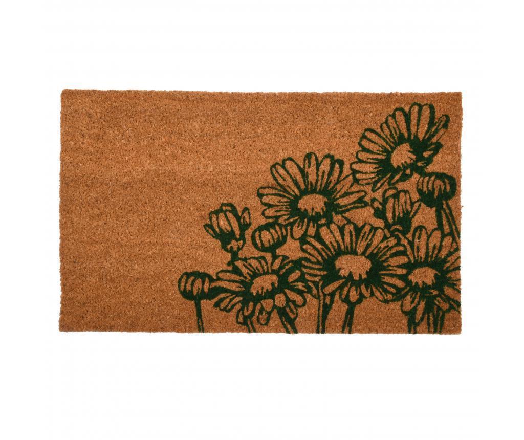Covoras de intrare Flowers - Esschert Design, Multicolor
