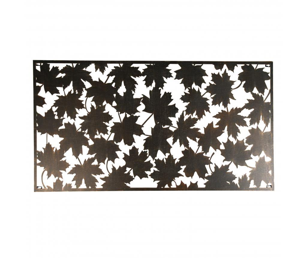 Decoratiune de perete Rectangular Leaves - Esschert Design, Negru imagine