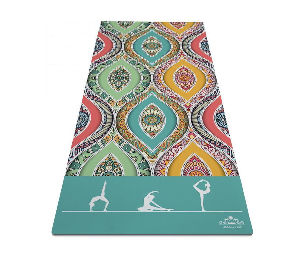 Saltea pentru yoga Full of Colors 65x185 cm imagine