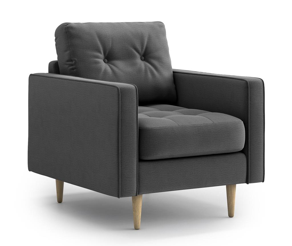 Fotoliu Esme Dark Grey - Optisofa, Gri & Argintiu imagine