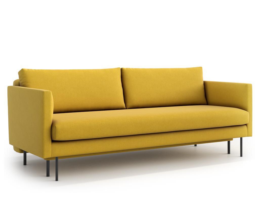 Canapea extensibila 3 locuri Svea Yellow - Optisofa, Galben & Auriu imagine