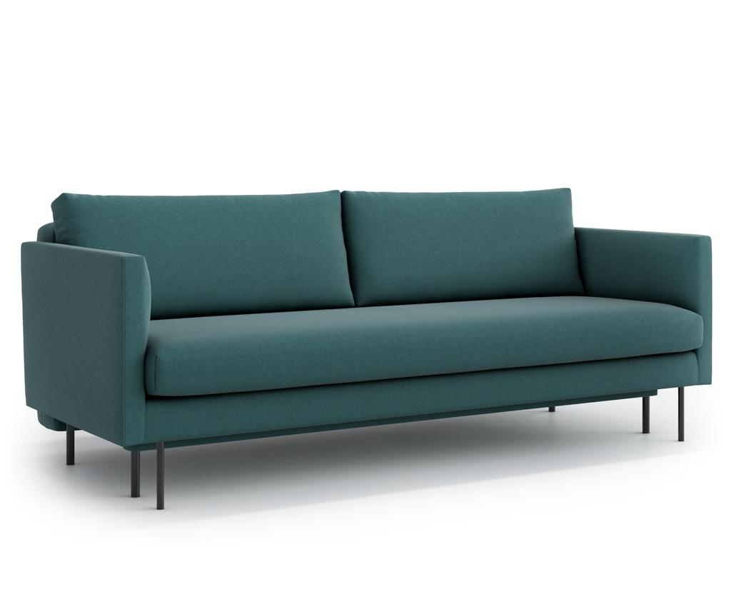 Canapea extensibila 3 locuri Svea Green - Optisofa, Verde imagine