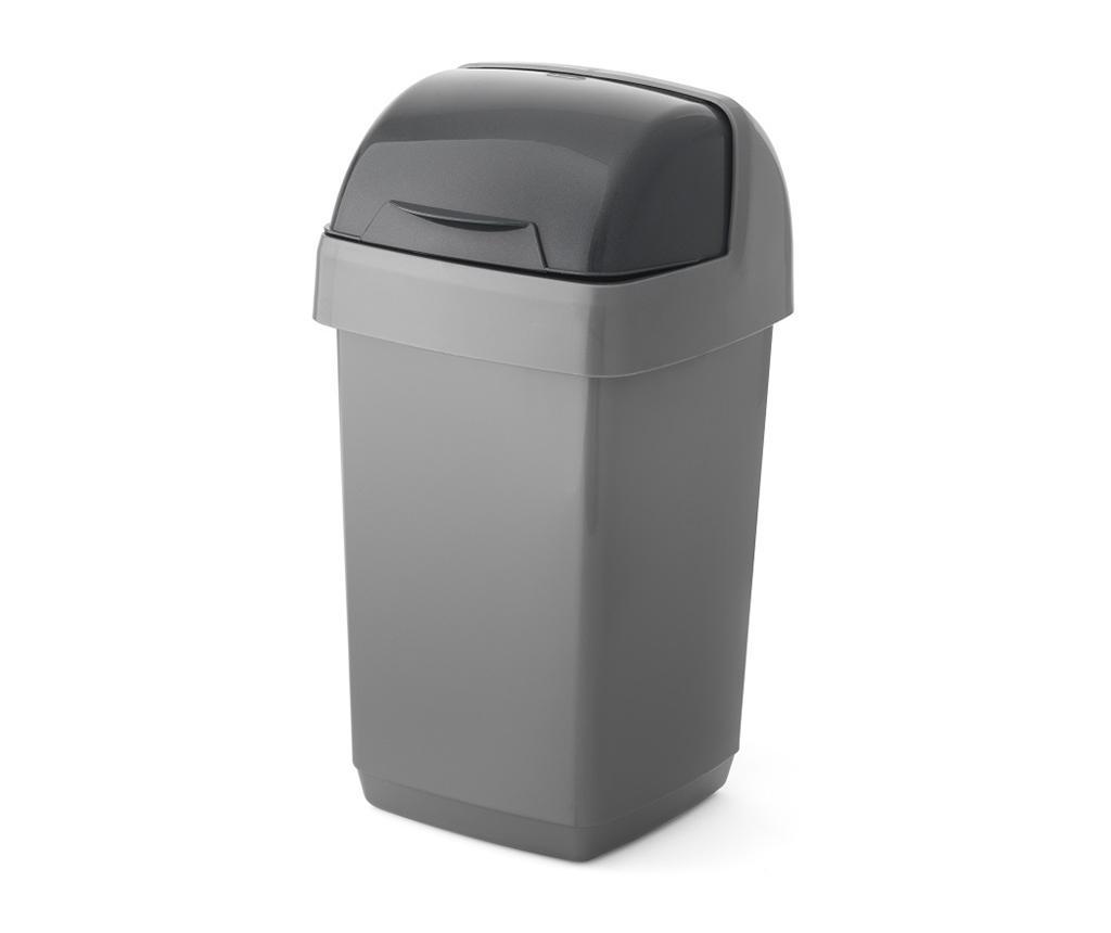 Cos de gunoi 10 L - ADDIS, Gri & Argintiu