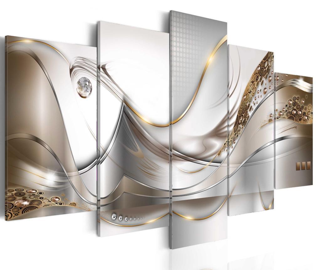 Set 5 tablouri Golden Flight - Artgeist, Multicolor vivre.ro