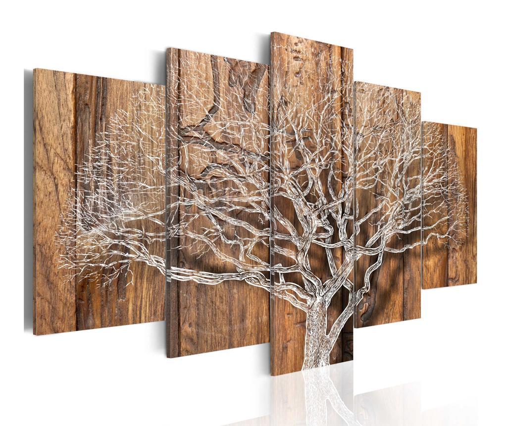 Set 5 tablouri Tree Chronicle - Artgeist, Multicolor vivre.ro