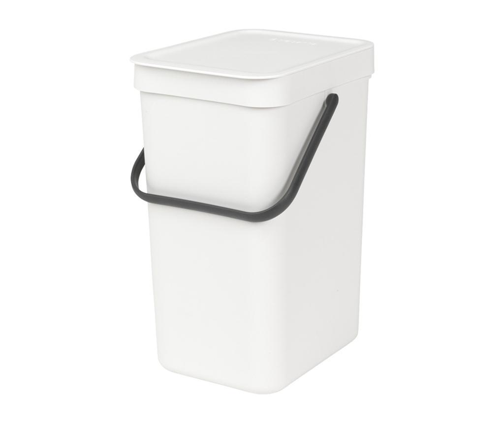 Cos de gunoi cu capac Brabantia Sort & Go White 12 L imagine