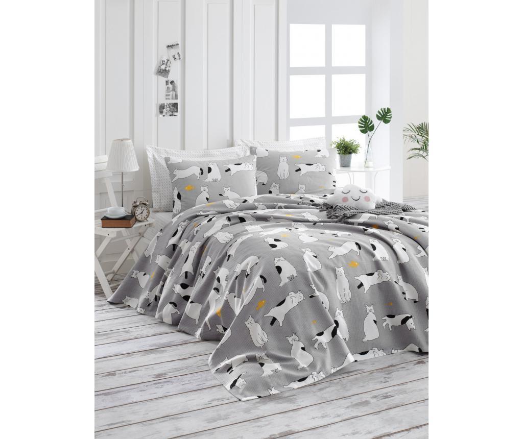 Cuvertura Pique Liana Grey 220x240 cm