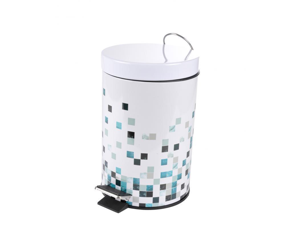 Cos de gunoi cu capac si pedala 3 L - douceur d'intérieur, Multicolor imagine