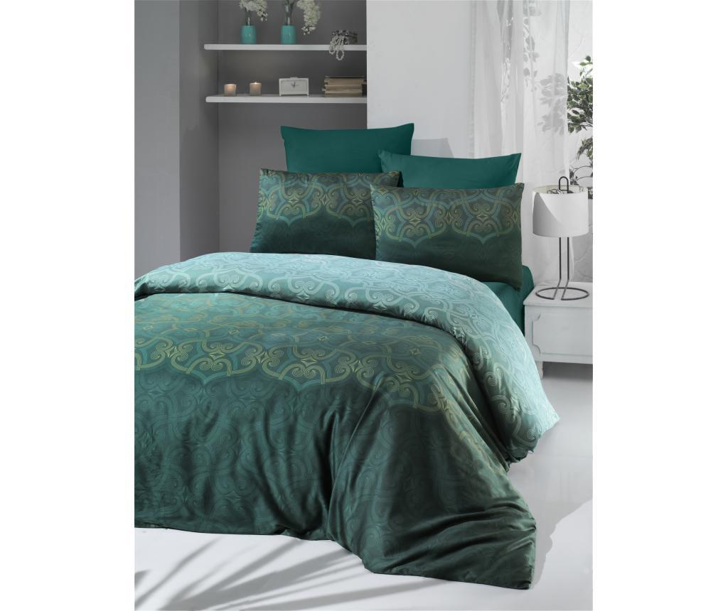 Set de pat Double Supreme Percale Pandora - Victoria, Multicolor imagine