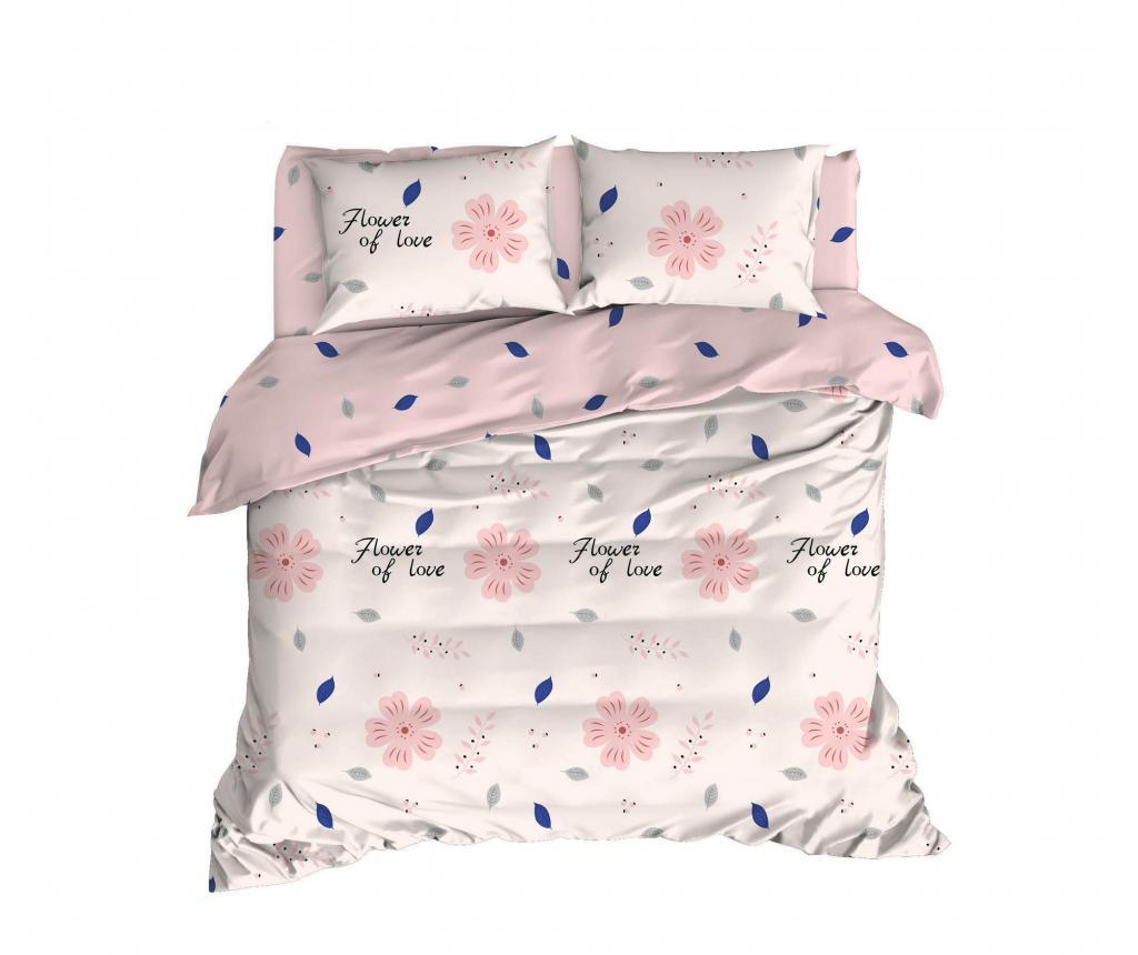 Set de pat Double Ranforce FlowerOfLove - EnLora Home, Multicolor imagine