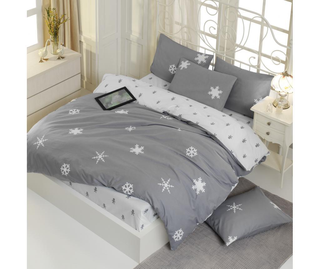 Set de pat Double Ranforce Janes - EnLora Home, Gri & Argintiu imagine vivre.ro