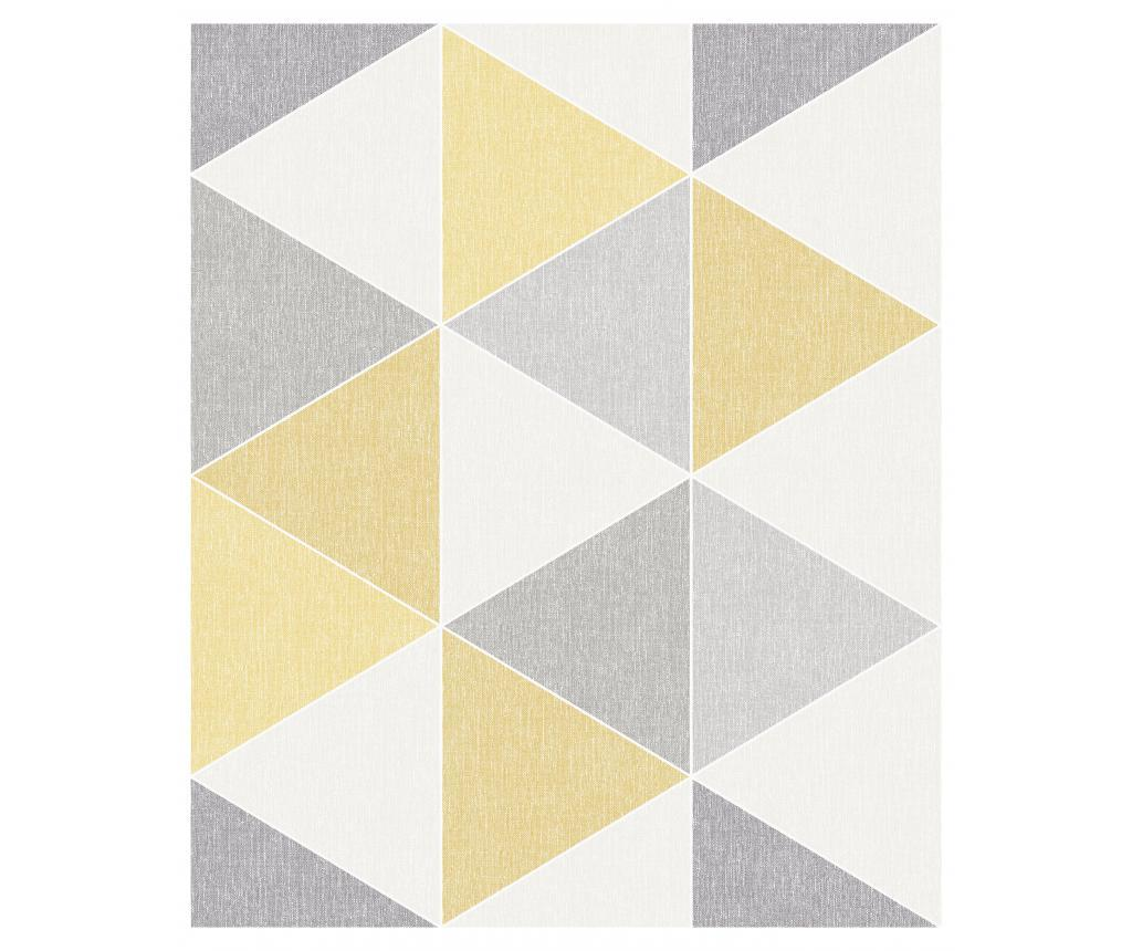 Tapet Scandi Triangle Yellow 53x1005 cm