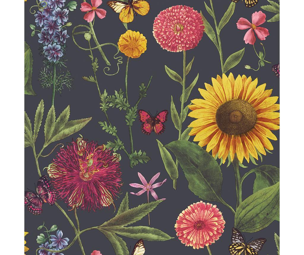 Tapet Summer Garden Charcoal Multi 53x1005 cm - Arthouse imagine
