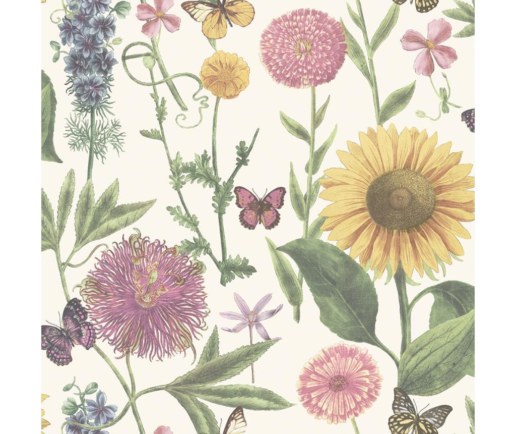 Tapet Summer Garden White Multi 53x1005 cm - Arthouse imagine