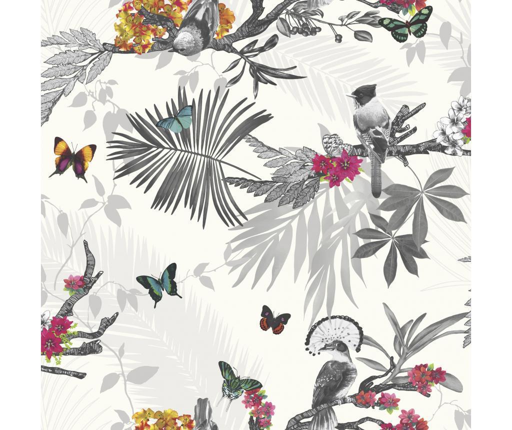 Tapet Mystical Forest White Multi 53x1005 cm imagine