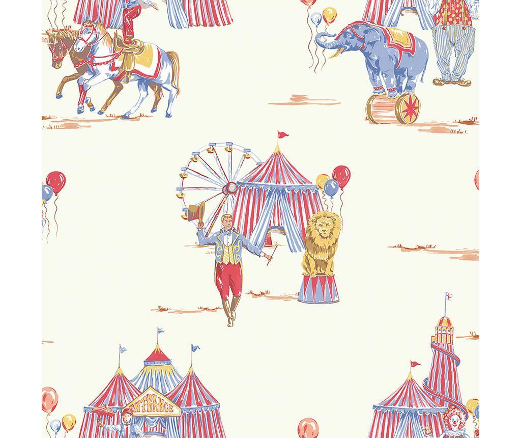 Tapet Circus Fun Red/Blue 53x1005 cm