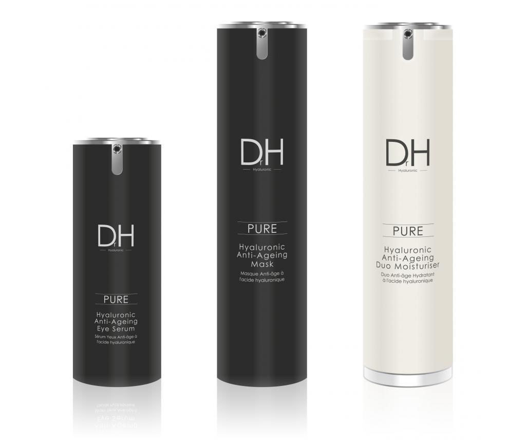 Set masca, crema hidratanta si ser pentru ochi cu acid hialuronic Dr H - SkinChemists imagine