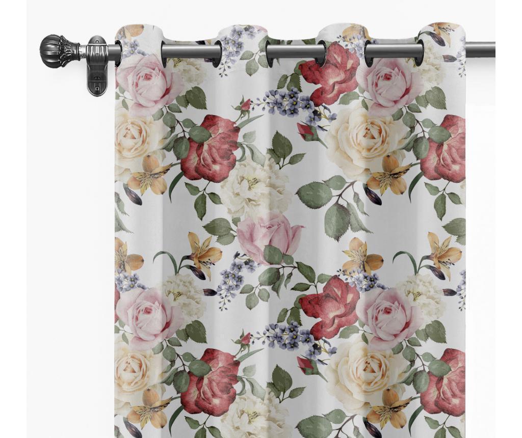 Draperie Wild Flowers 140x260 cm - Velvet Atelier, Multicolor imagine