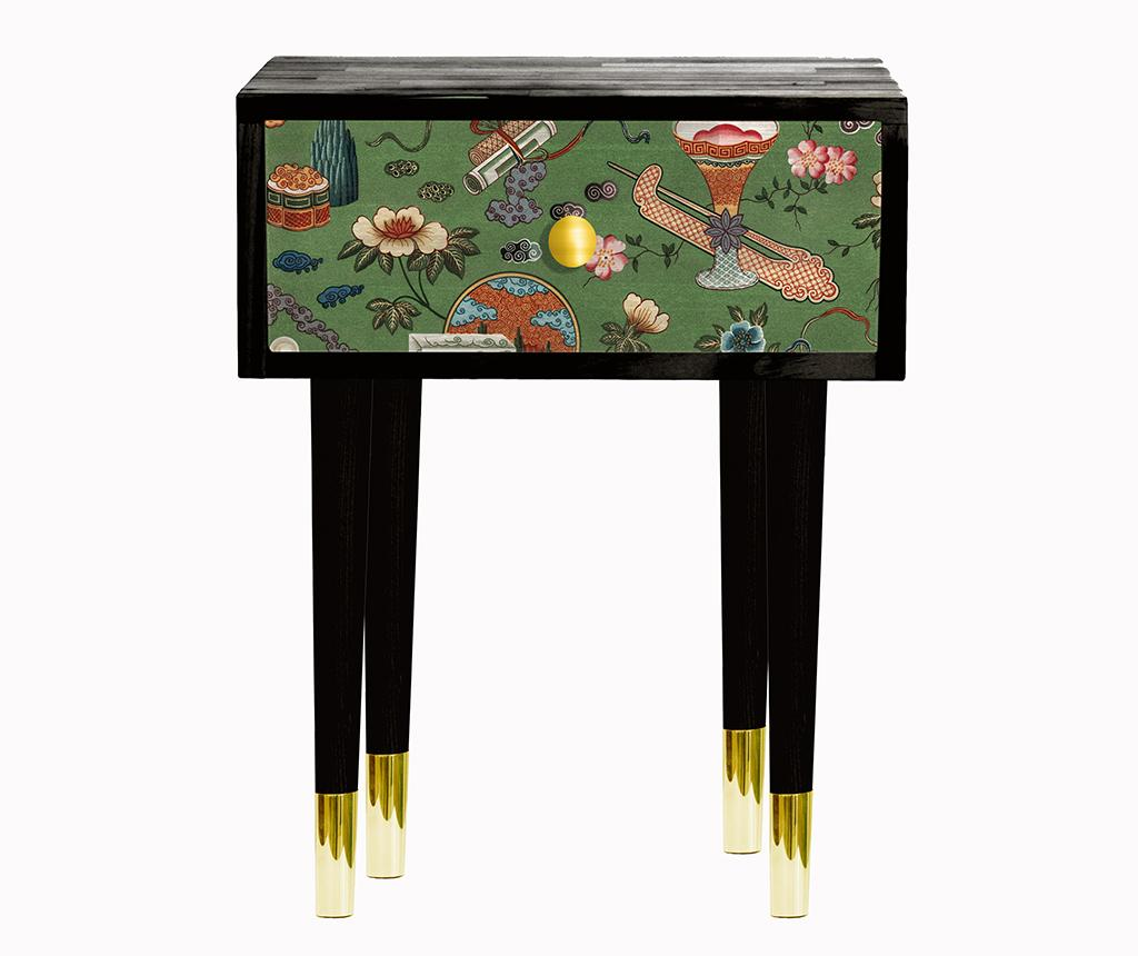 Noptiera Chinese Flowers - Velvet Atelier, Multicolor poza