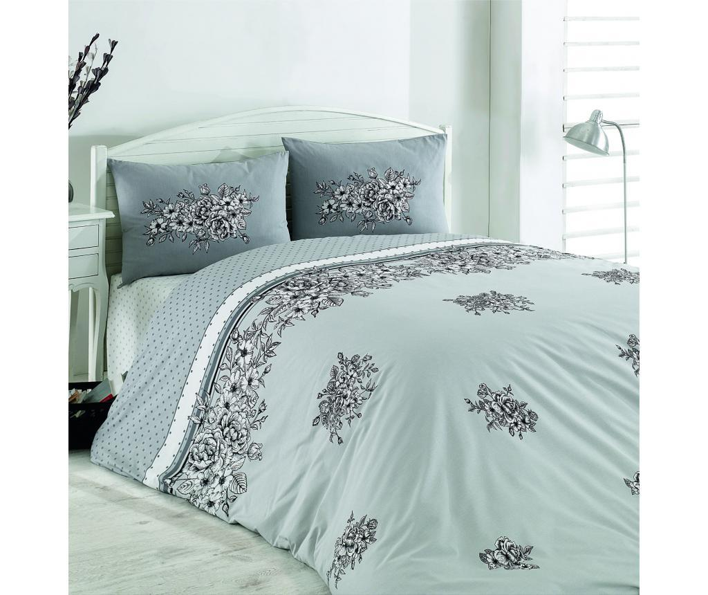 Lenjerie de pat King Ranforce Spring V1 - Majoli Bahar Home Collection, Multicolor vivre.ro