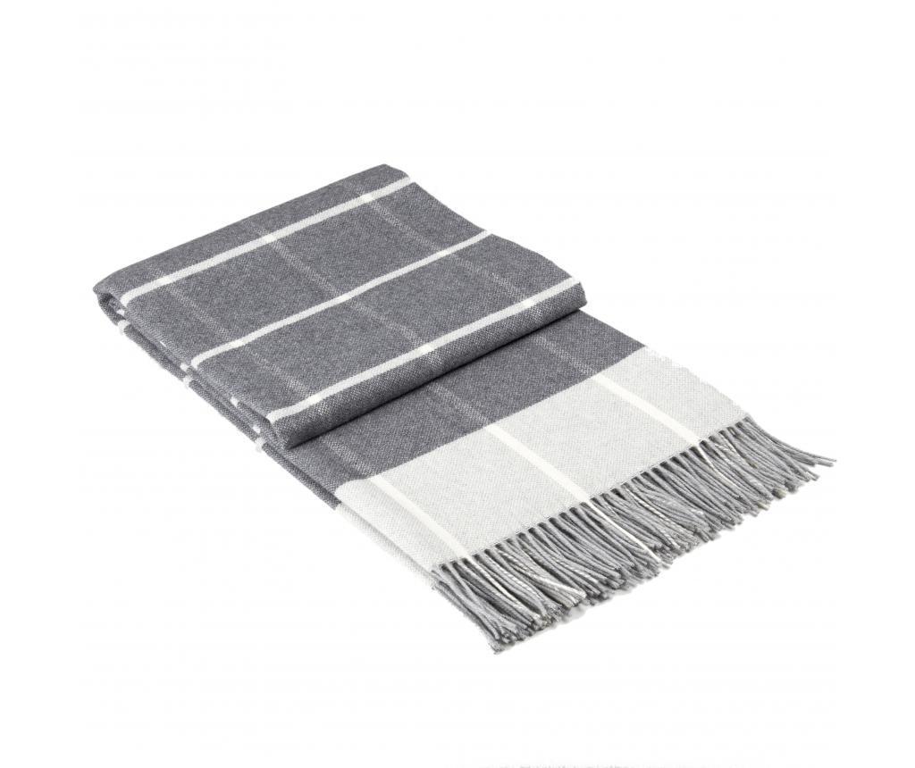 Patura Ontario Grey 140x200 cm - Dilios, Gri & Argintiu vivre.ro