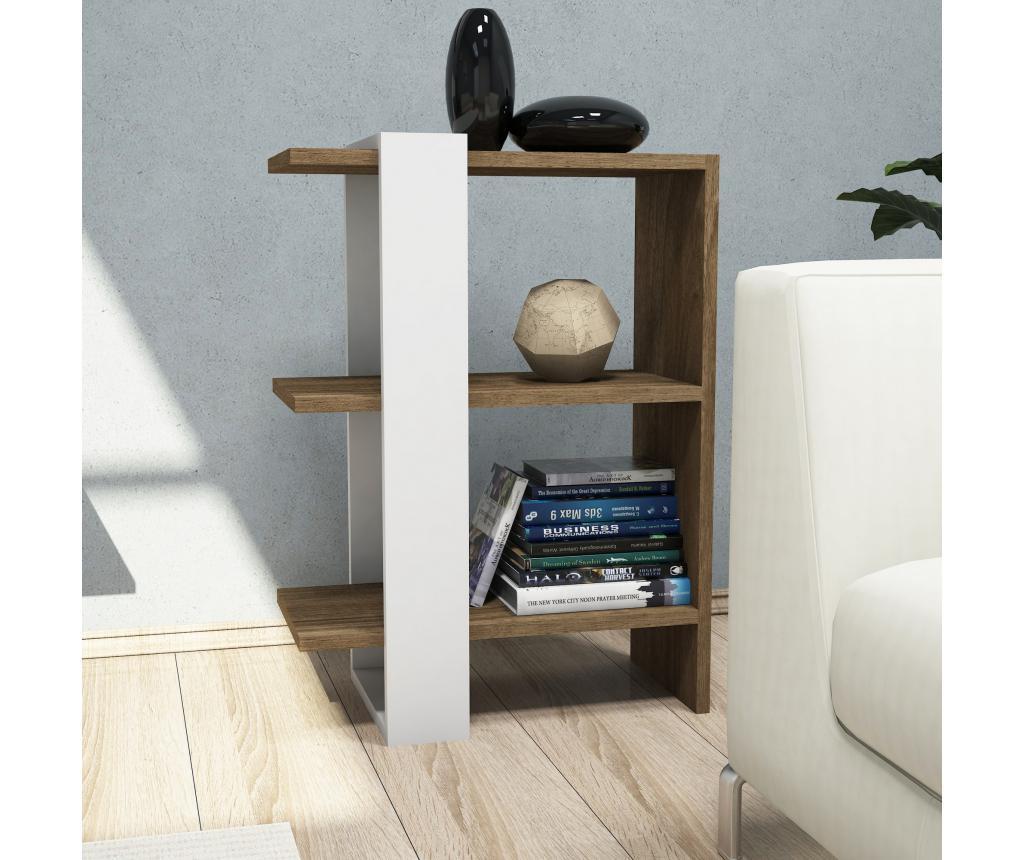 Biblioteca - Puqa Design, Alb,Maro