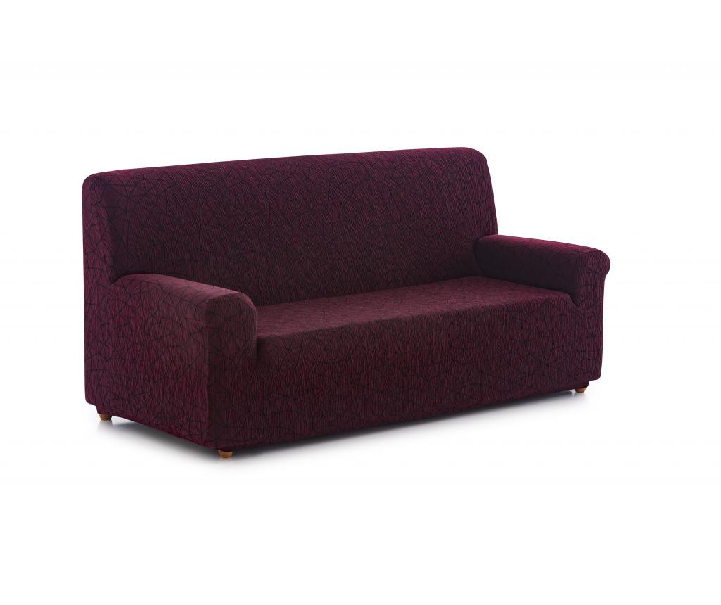 Husa elastica pentru canapea Segrelles 170x210 cm - Blindecor, Rosu imagine