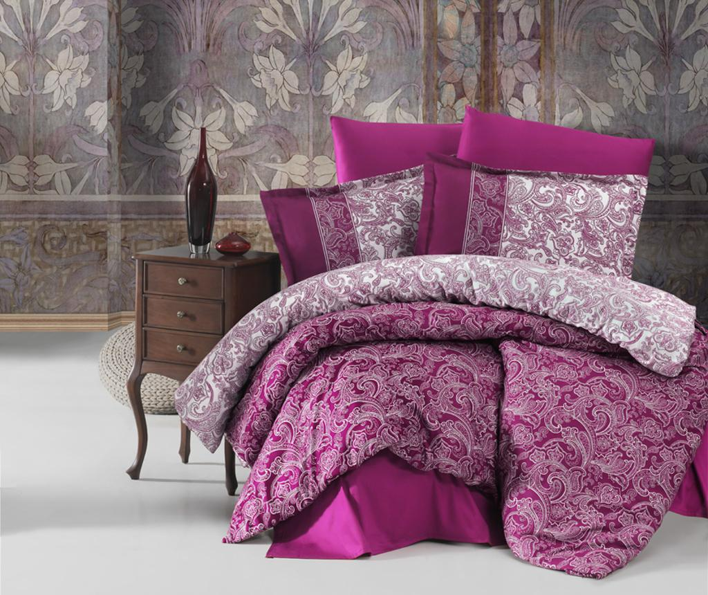 Lenjerie de pat King Satin Supreme Polo Purple - Clasy, Mov imagine