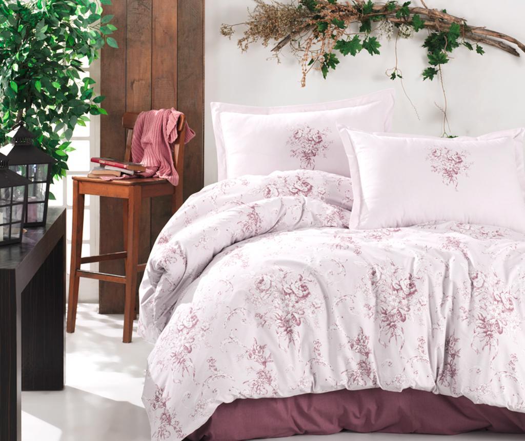 Lenjerie de pat Double Ranforce Este Pink