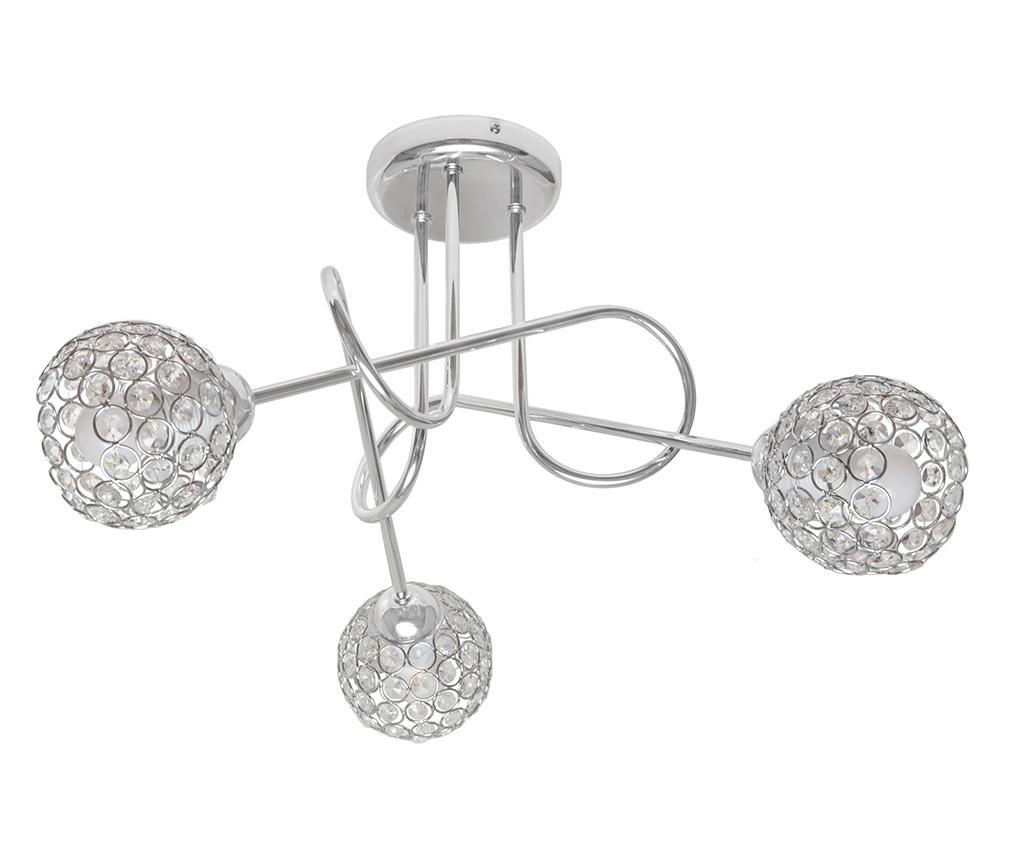 Lustra Oxford Grey Three - Helam, Gri & Argintiu
