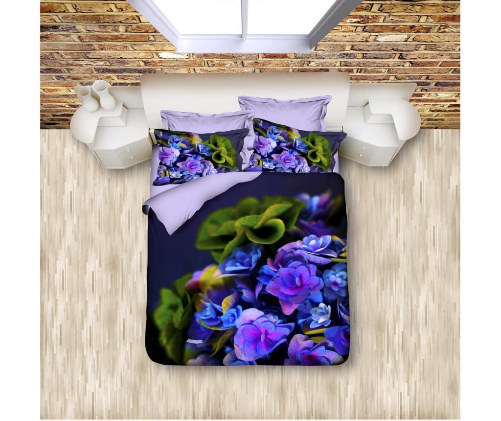 Set de pat Double Extra Ranforce Hydrangea - DITEX, Multicolor imagine