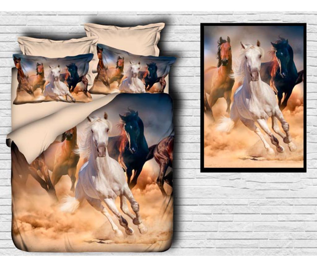 Set de pat Double Extra Ranforce Horses - DITEX, Multicolor poza