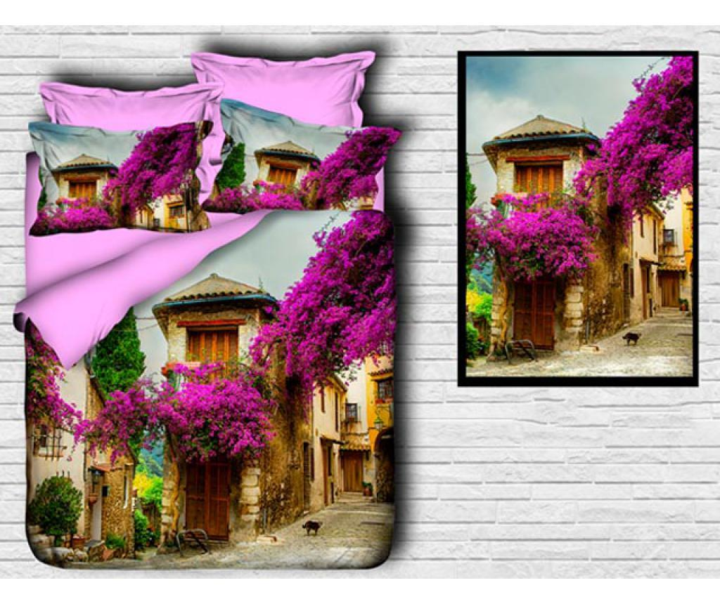 Set de pat Double Extra Ranforce Mediteraneo - DITEX, Maro,Multicolor imagine
