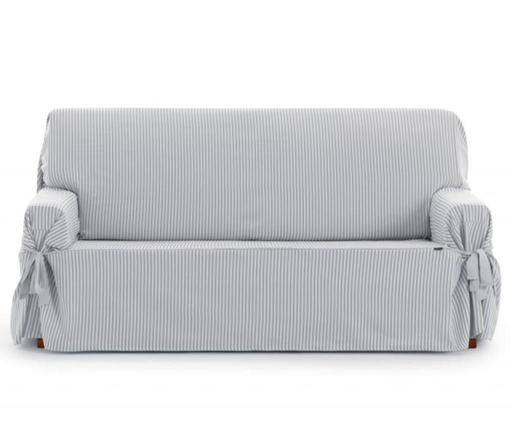 Husa pentru canapea cu 3 locuri Calma Grey 80x170 cm
