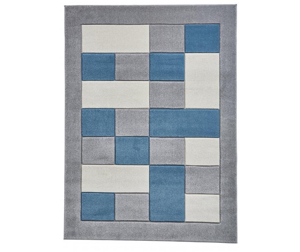 Covor Matrix Grey Blue 160x220 cm - Think Rugs, Albastru,Gri & Argintiu imagine