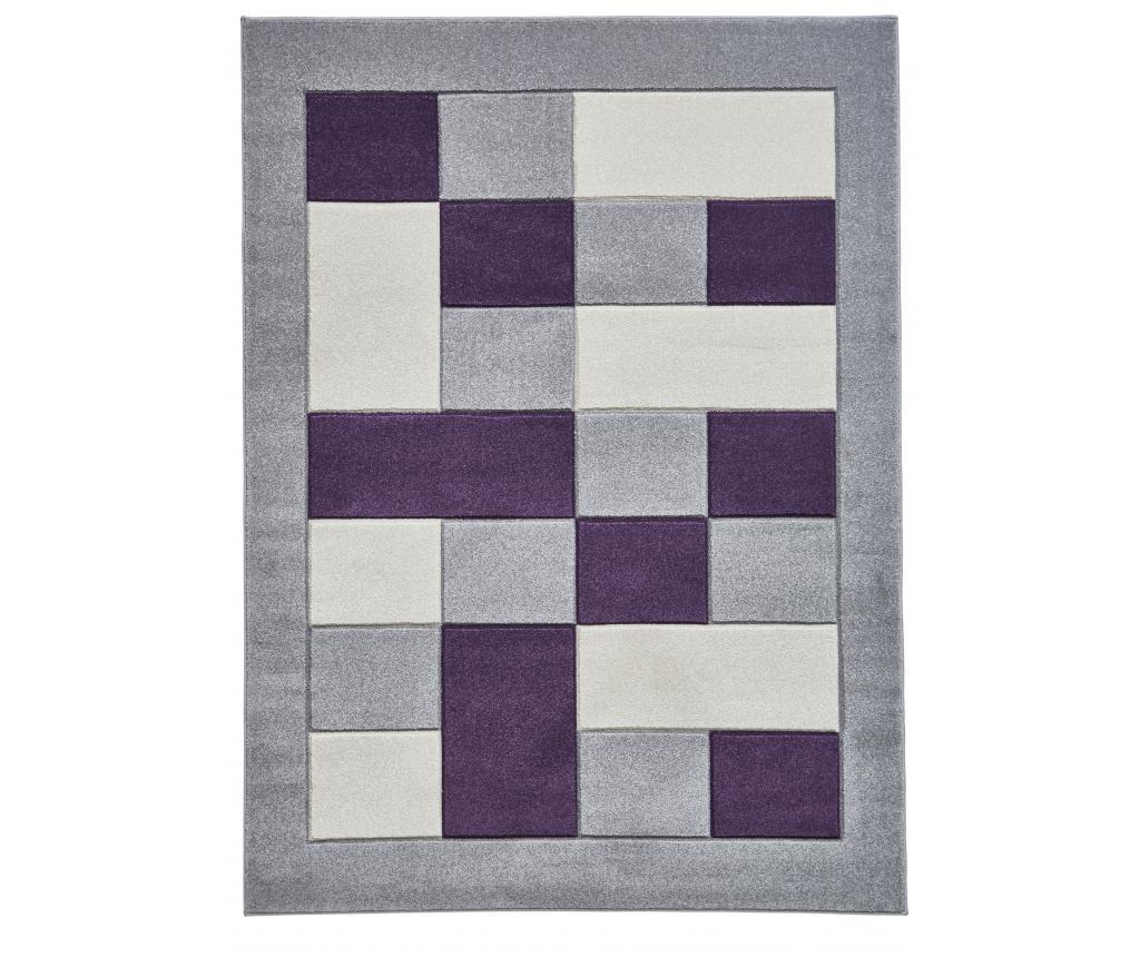 Covor Matrix Grey Purple 160x220 cm - Think Rugs, Gri & Argintiu,Mov imagine